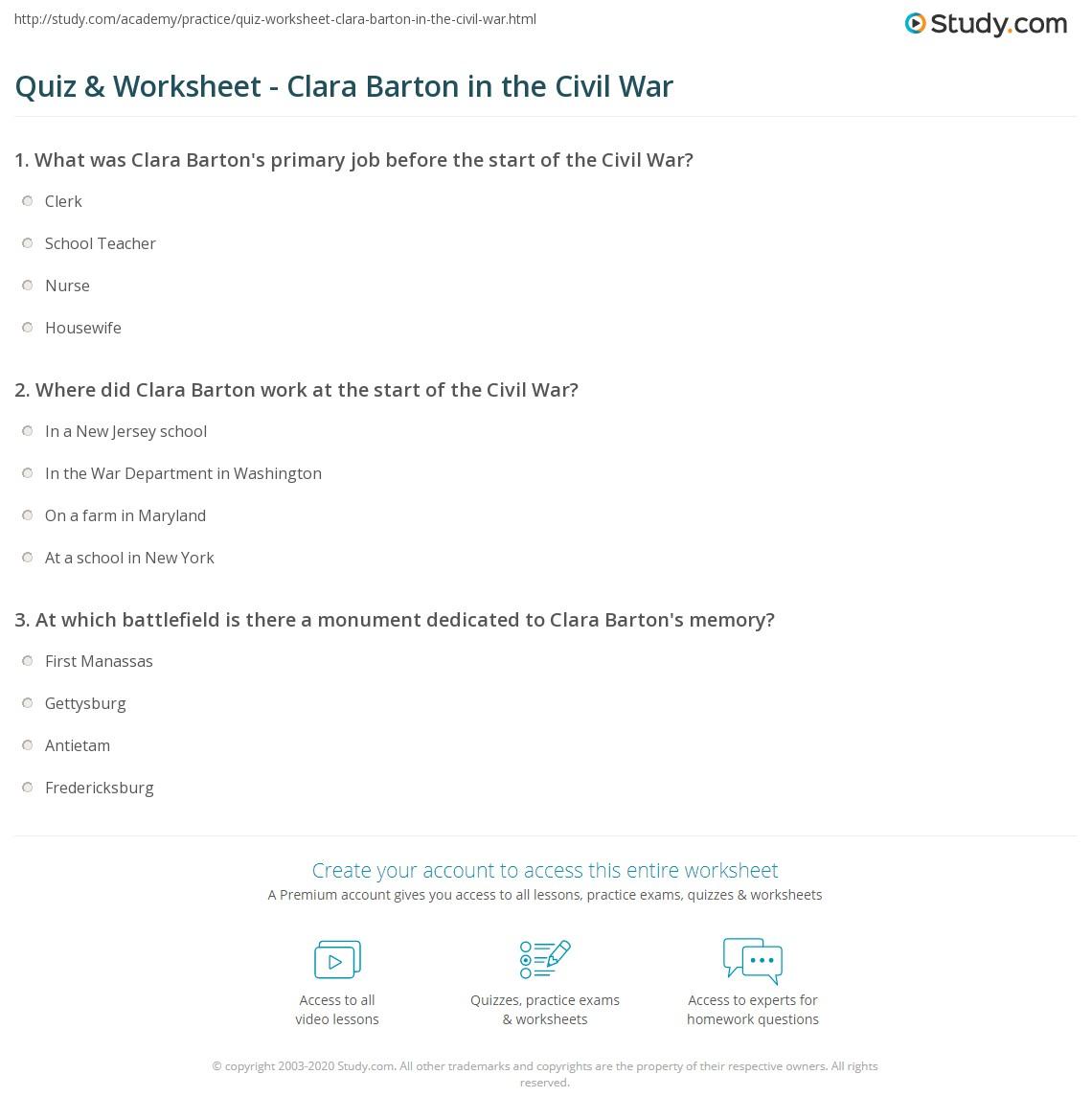 Printables Civil War Timeline Worksheet civil war timeline worksheet english causes and events answer key worksheets print clara barton in the facts timeline