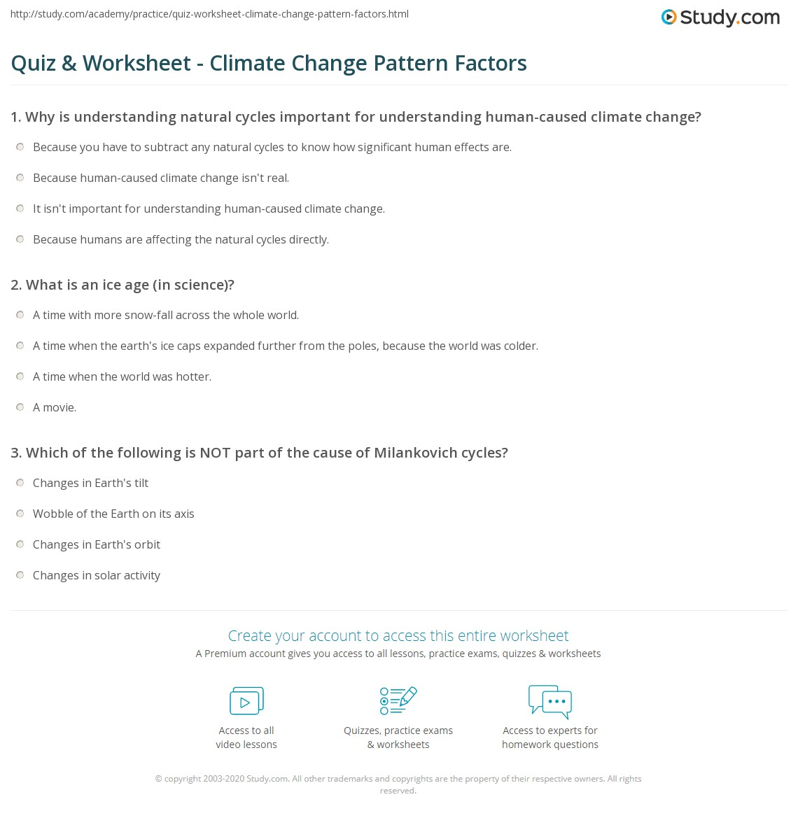 Worksheet Factors Affecting Climate Worksheet quiz worksheet climate change pattern factors study com print causes of repeating patterns worksheet