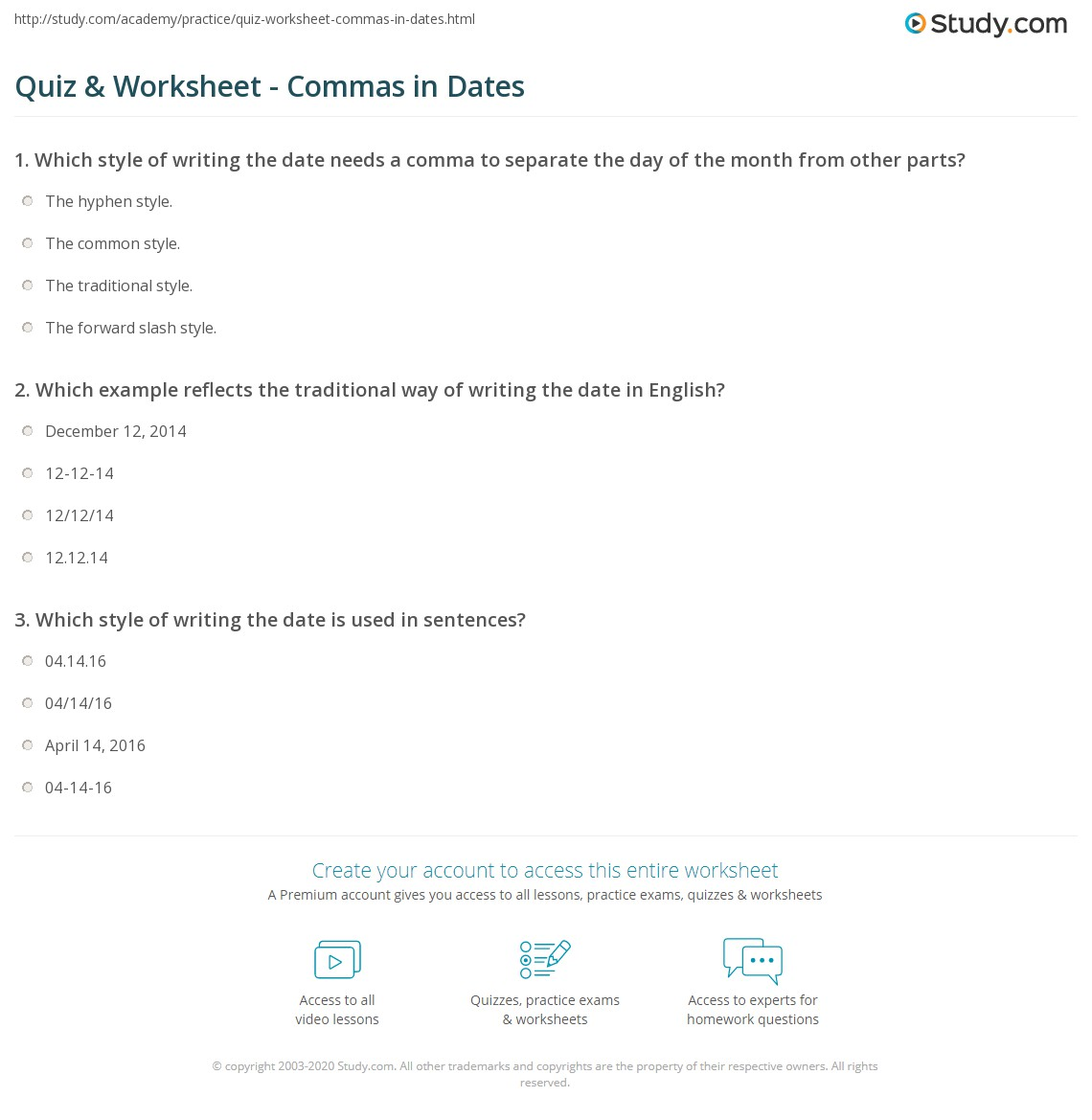 Comma Worksheet   Worksheets, Punctuation and Sentences