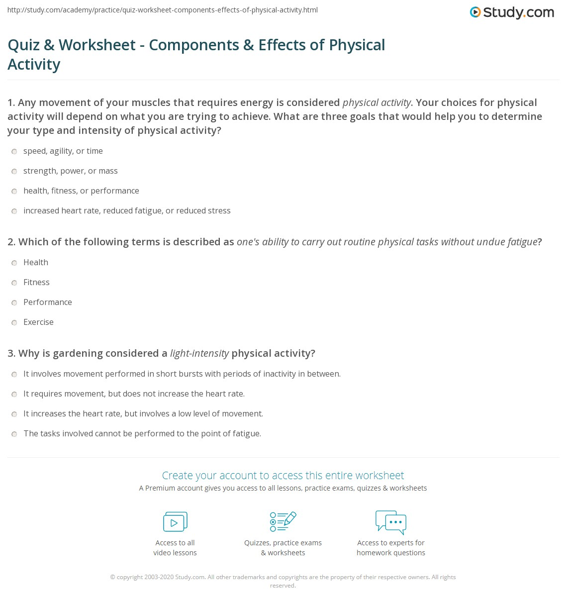 kids fitness health questionnaire Articles for kids: be a fit kid  personal health series fitness quiz answer key 1  teacher's guide: fitness (grades 6 to 8.