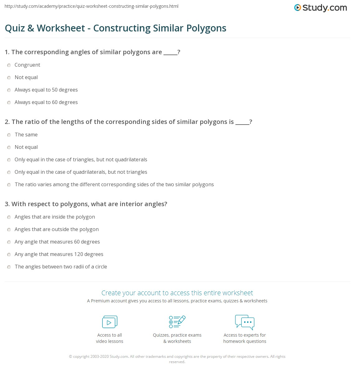 worksheet Polygons Worksheet quiz worksheet constructing similar polygons study com print worksheet