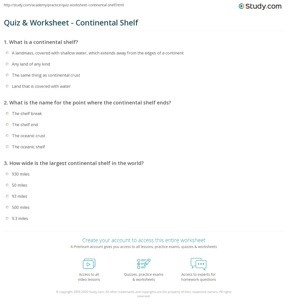worksheet Planet Earth Shallow Seas Worksheet planet earth shallow seas worksheet the best and most print continental shelf definition facts worksheet