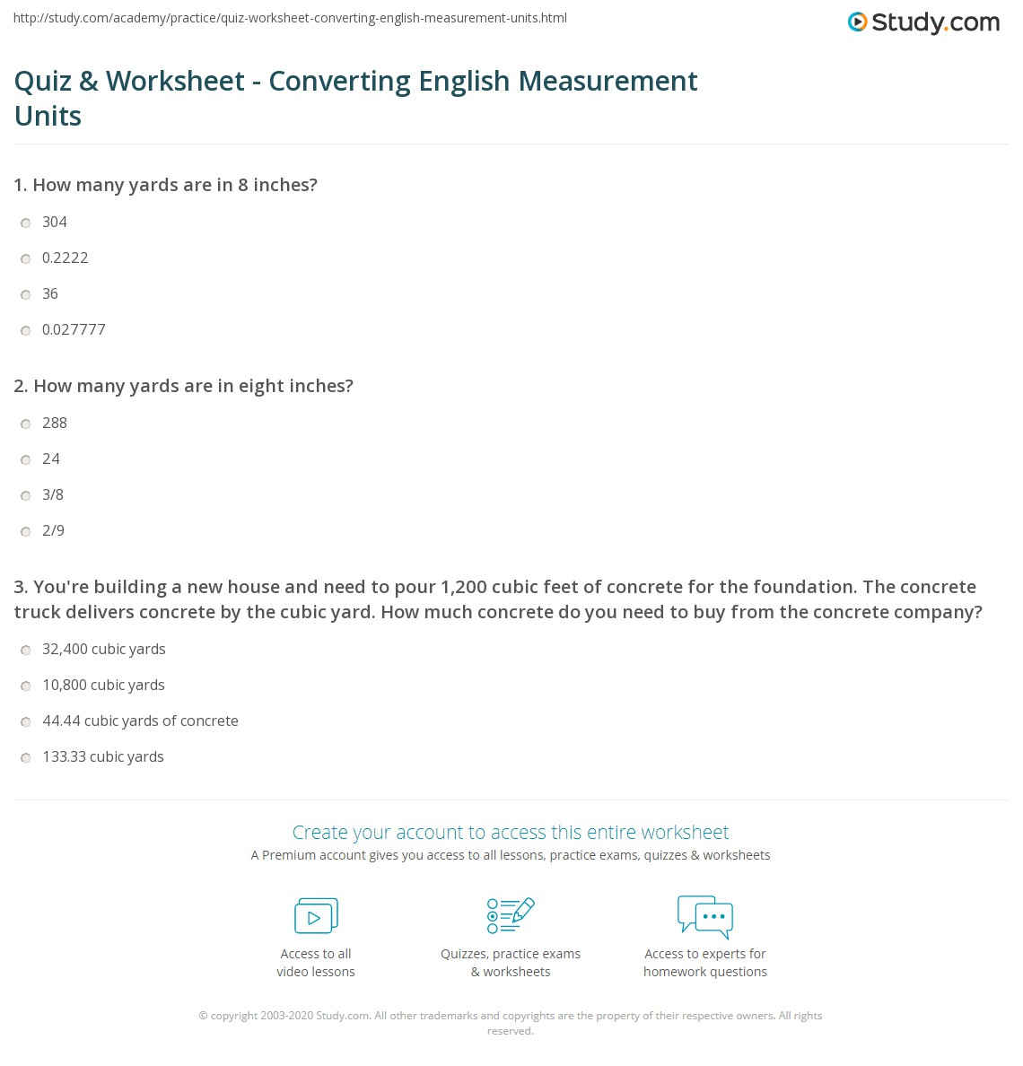 Worksheets Convert Measurements Worksheet quiz worksheet converting english measurement units study com print how to convert in the system of worksheet