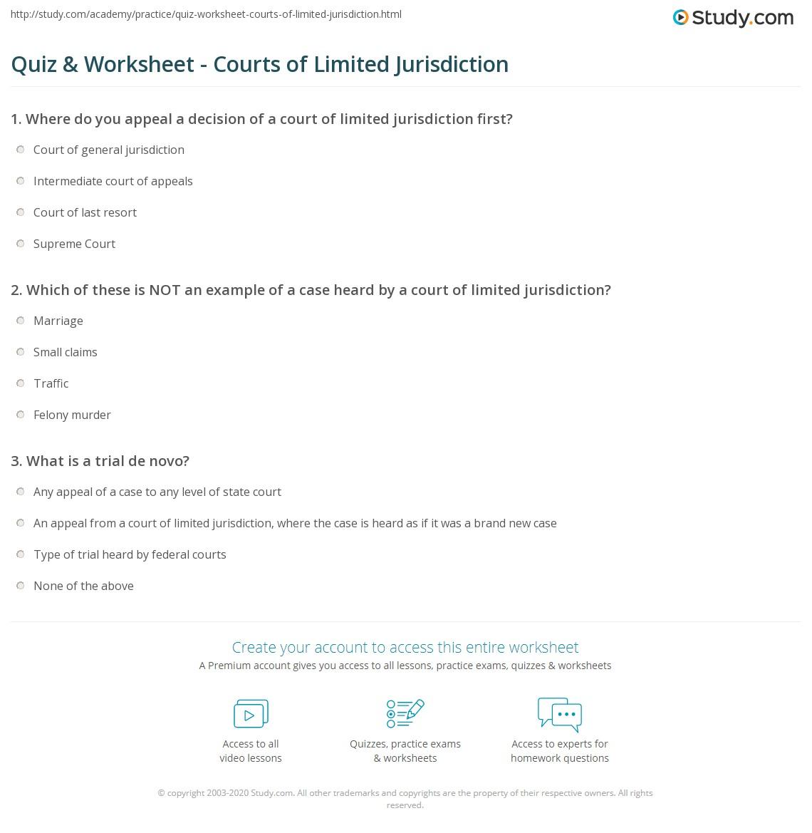limited jurisdiction definition