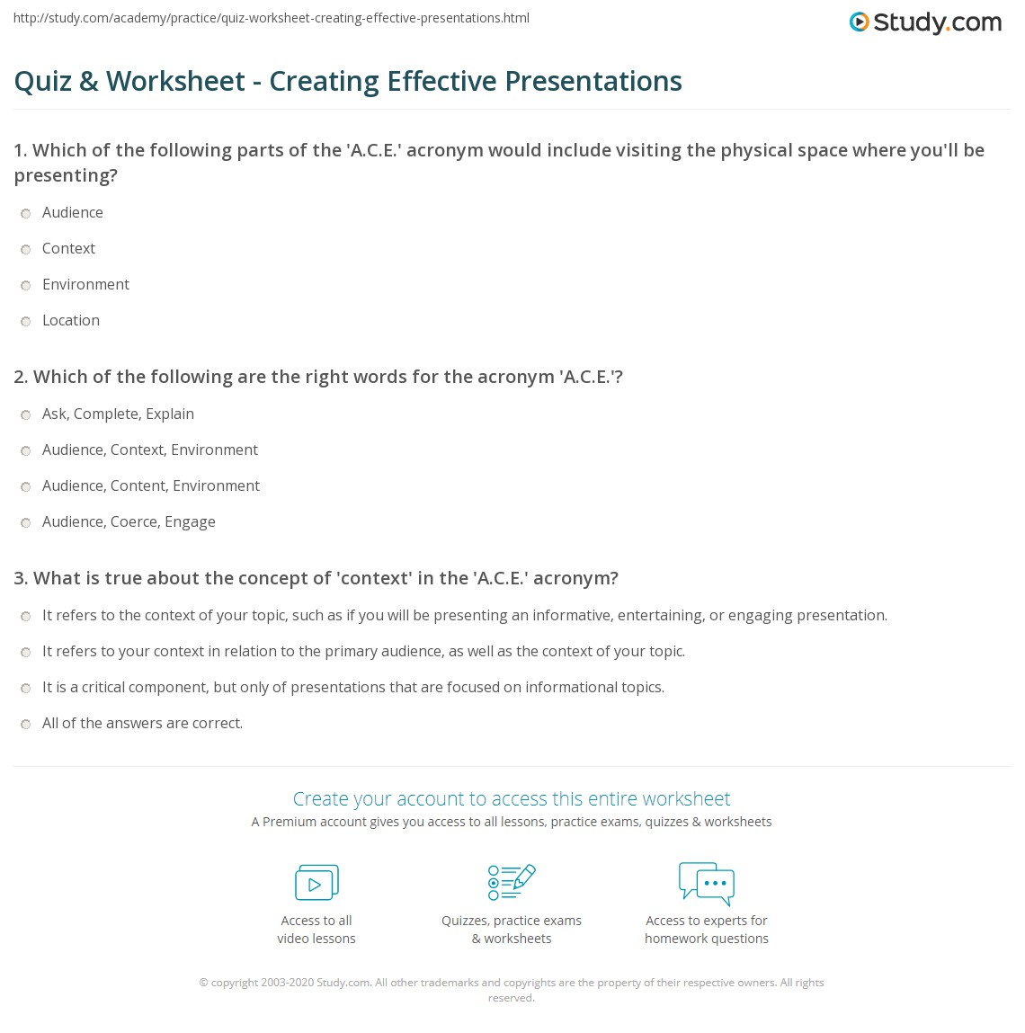 worksheet Organizing Ideas Worksheets workbooks organizing ideas worksheets free printable quiz worksheet creating effective presentations study com ideas