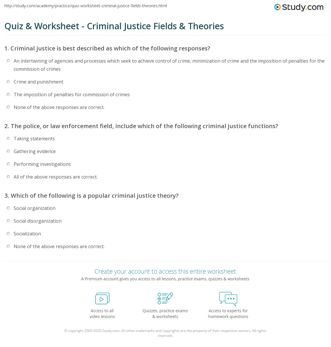 print what is criminal justice definition fields theories worksheet
