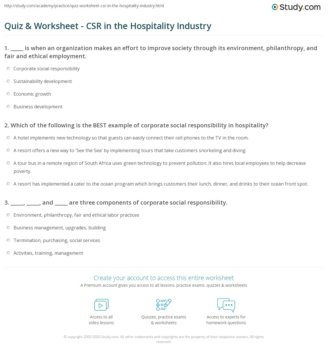 csr in hotel industry