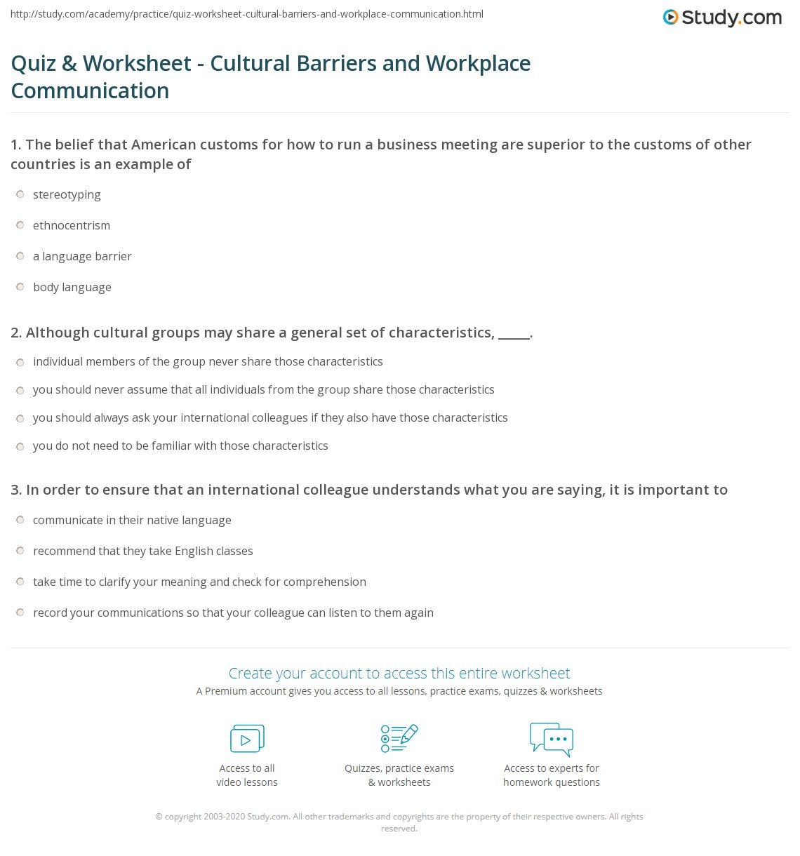 Print What Are Cultural Barriers To Communication In The Workplace