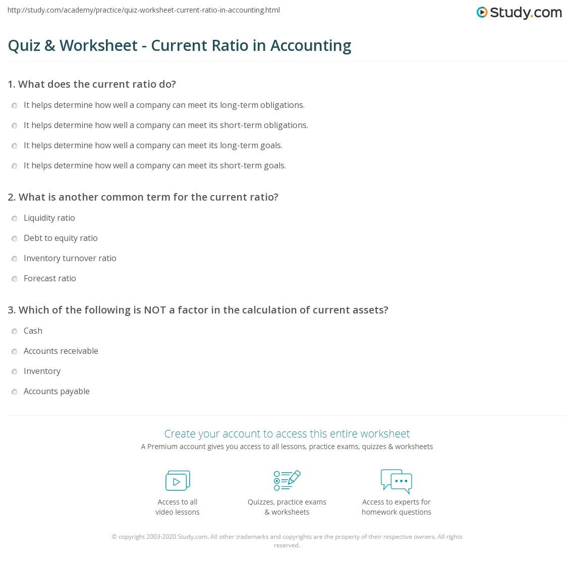 ratio analysis formula with example pdf