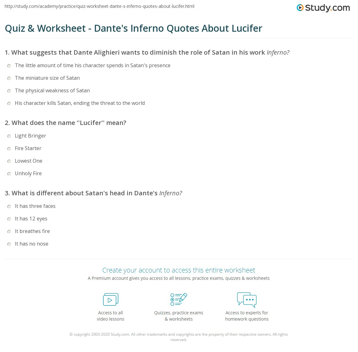quiz worksheet dante s inferno quotes about lucifer com print dante s inferno quotes about satan worksheet
