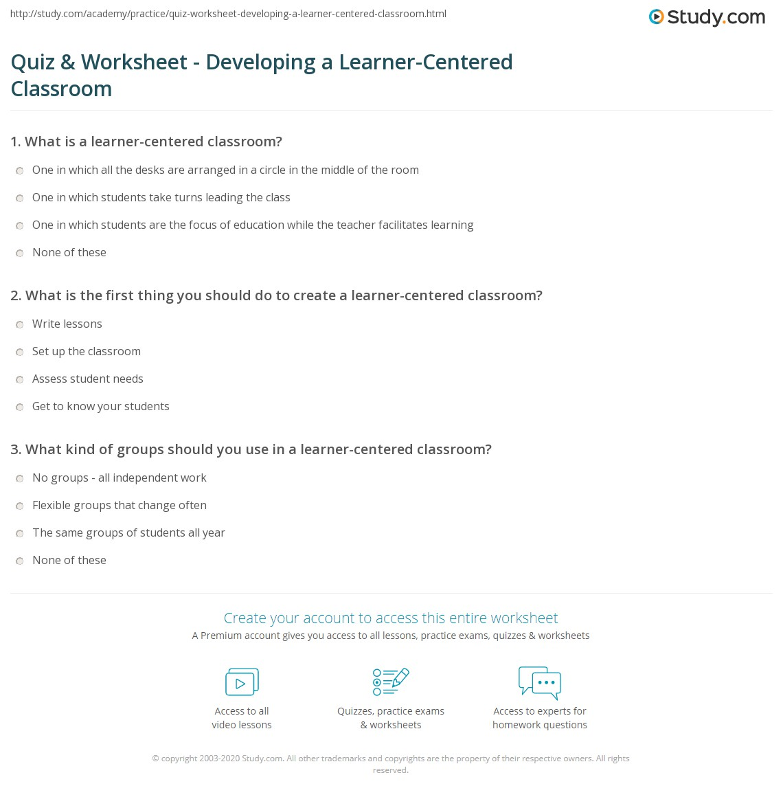 photograph about What Type of Learner Are You Printable Quiz named Quiz Worksheet - Building a Learner-Primarily based Clroom