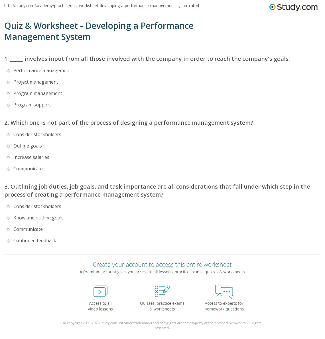 Developing a performance system