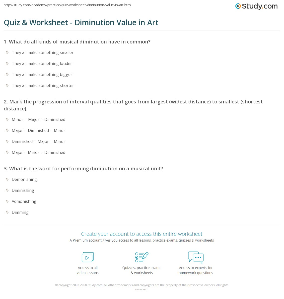 Marvelous Print Diminution: Definition U0026 Value Worksheet