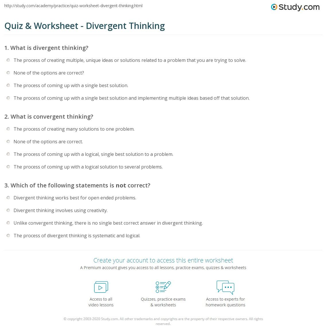 worksheet Criminal Thinking Worksheets workbooks looking and thinking worksheets free printable quiz worksheet divergent study com