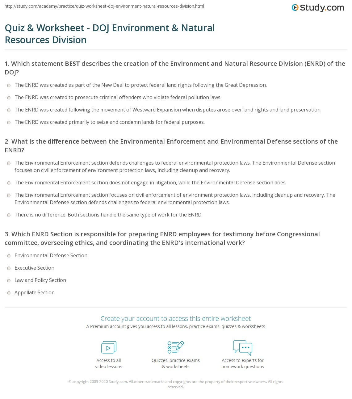 Department Of Justice Environmental And Natural Resources Division