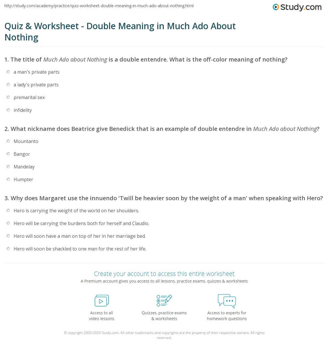 Uncategorized Premarital Counseling Worksheets quiz worksheet double meaning in much ado about nothing print entendre innuendo worksheet