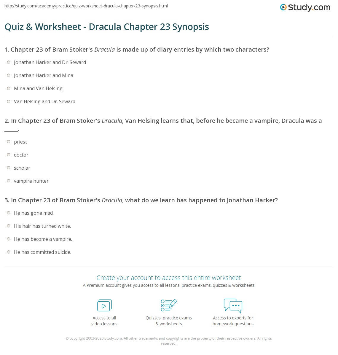 quiz worksheet dracula chapter 23 synopsis study com rh study com Study Guide Format Sample of a Study Guide