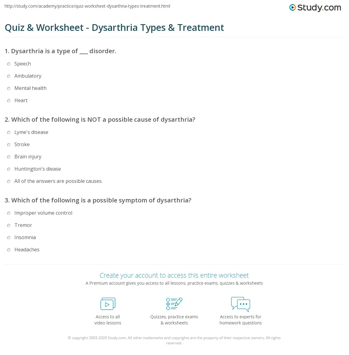 print dysarthria definition types treatment worksheet
