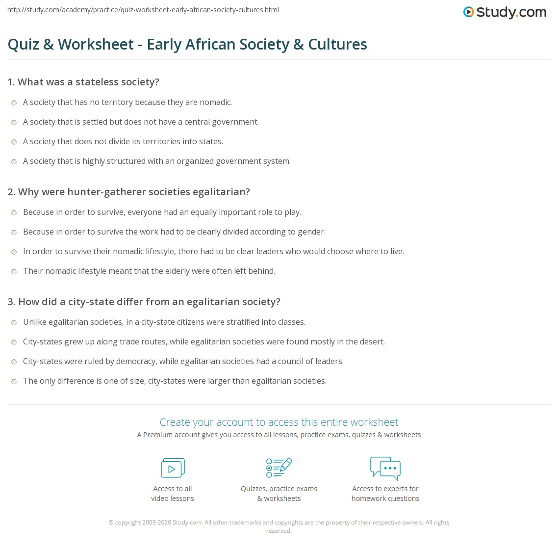 Quiz worksheet early african society cultures study print society culture in early africa worksheet publicscrutiny Choice Image
