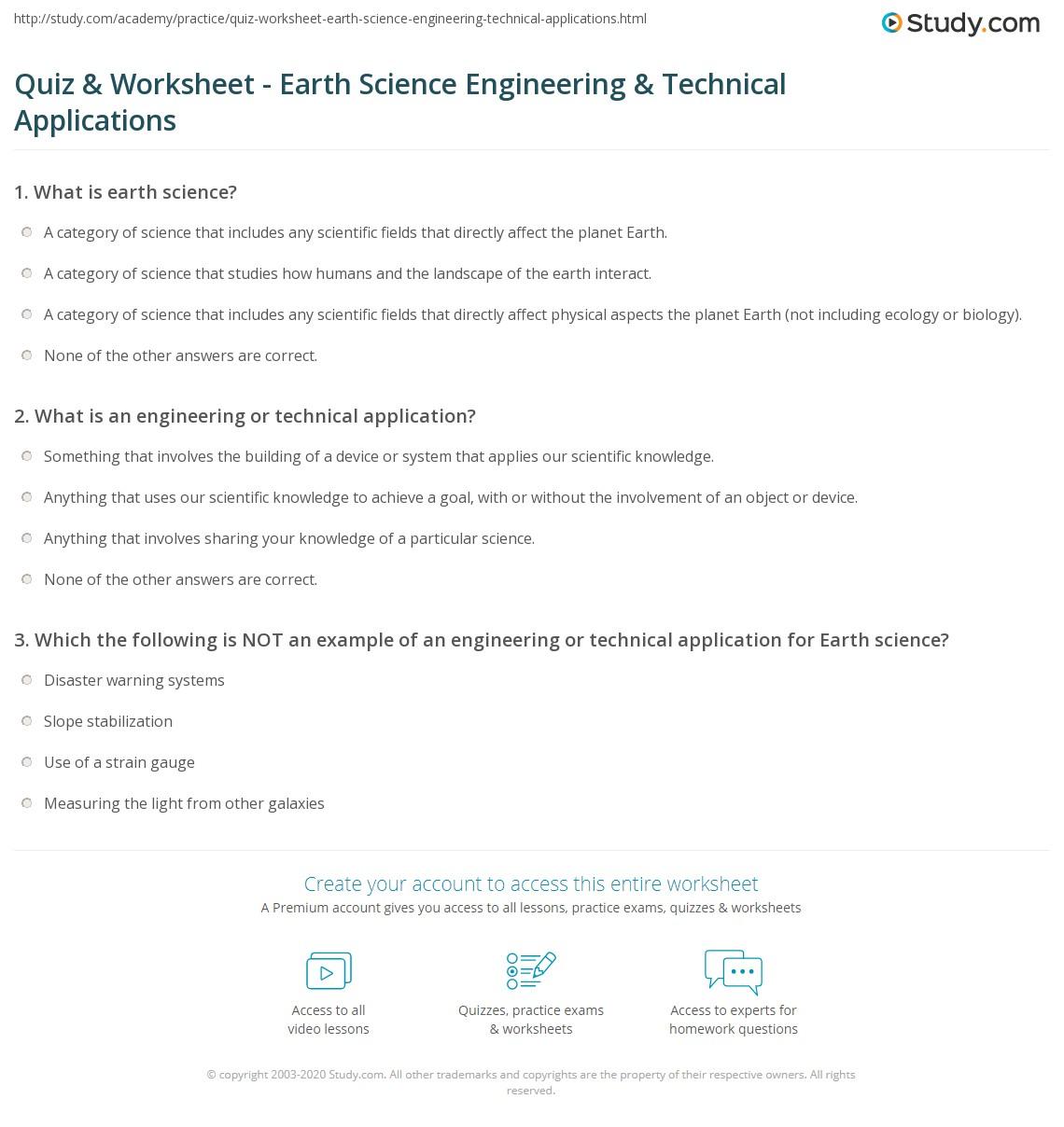 worksheet Planet Earth Freshwater Worksheet quiz worksheet earth science engineering technical print applications for worksheet