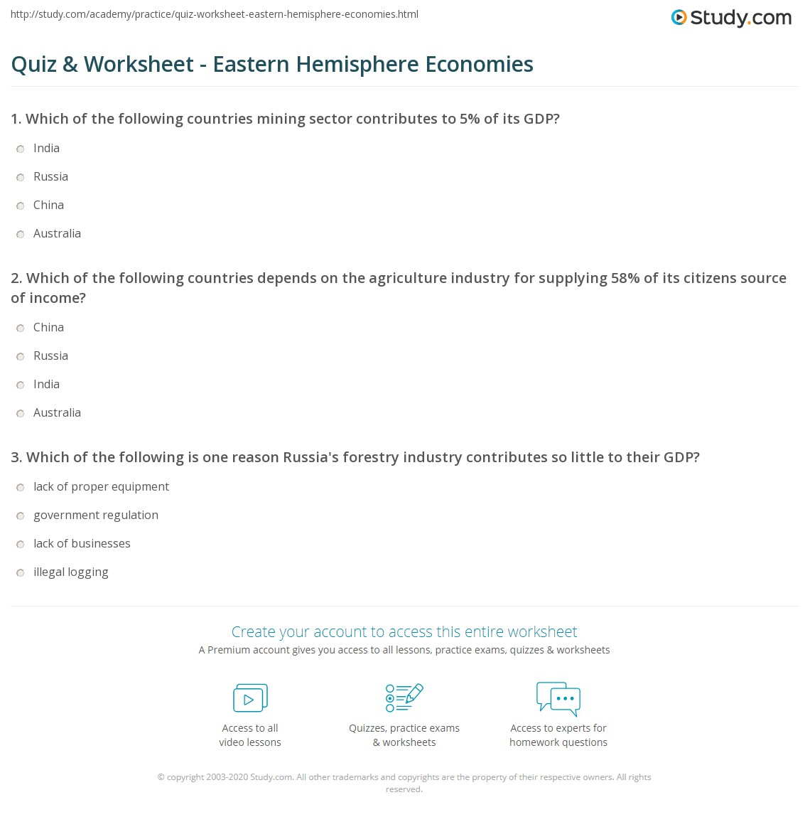 Worksheets Hemisphere Worksheets quiz worksheet eastern hemisphere economies study com print the of worksheet