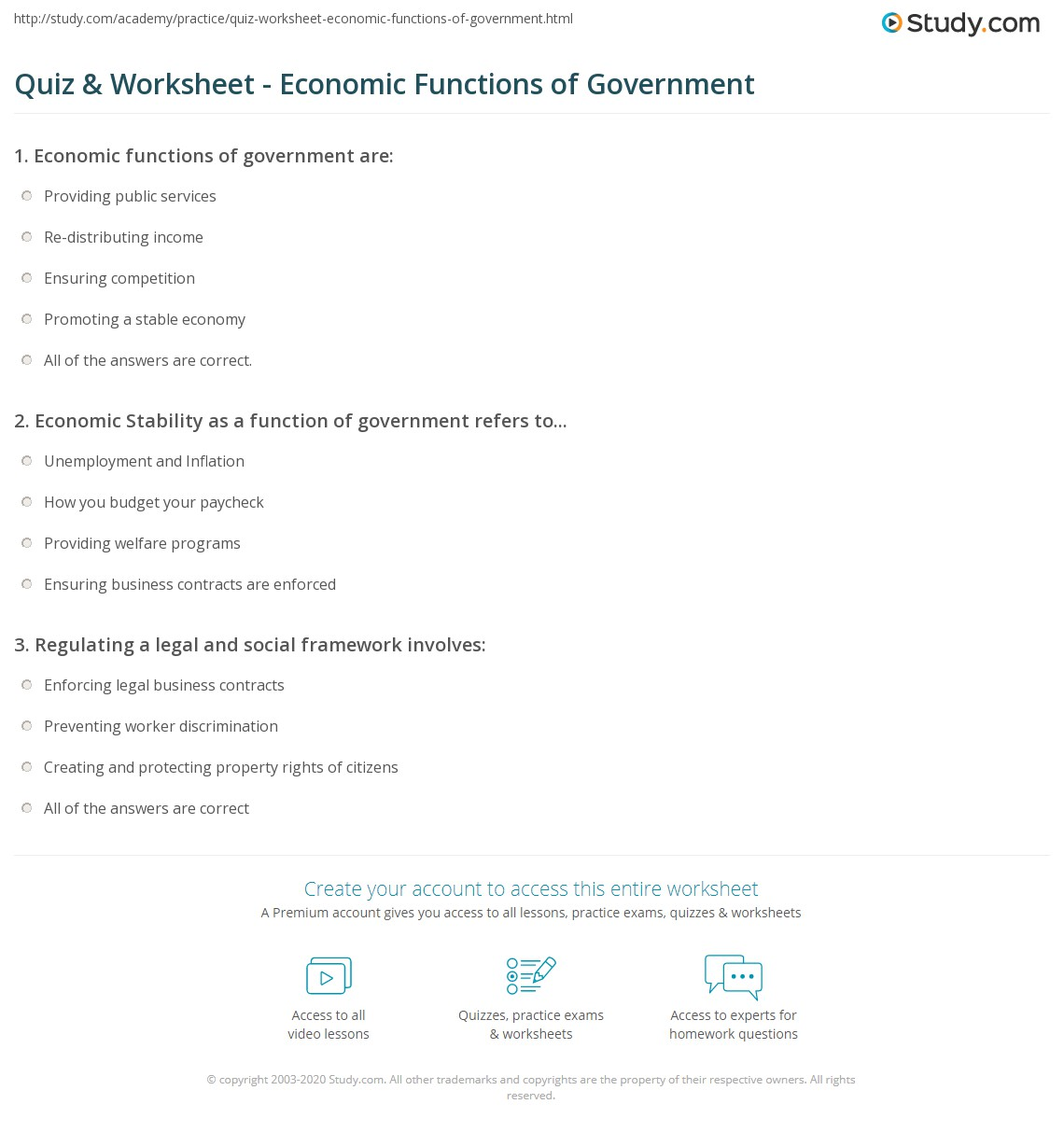Functions of the economy. Functions of a market economy 22