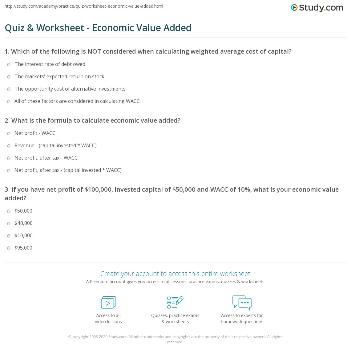 Economic value added and its alternatives | p4 advanced financial.