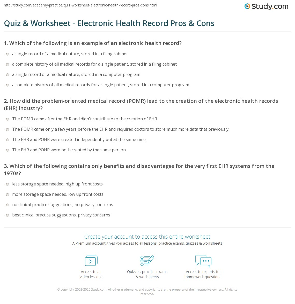 pros and cons of using electronic health records