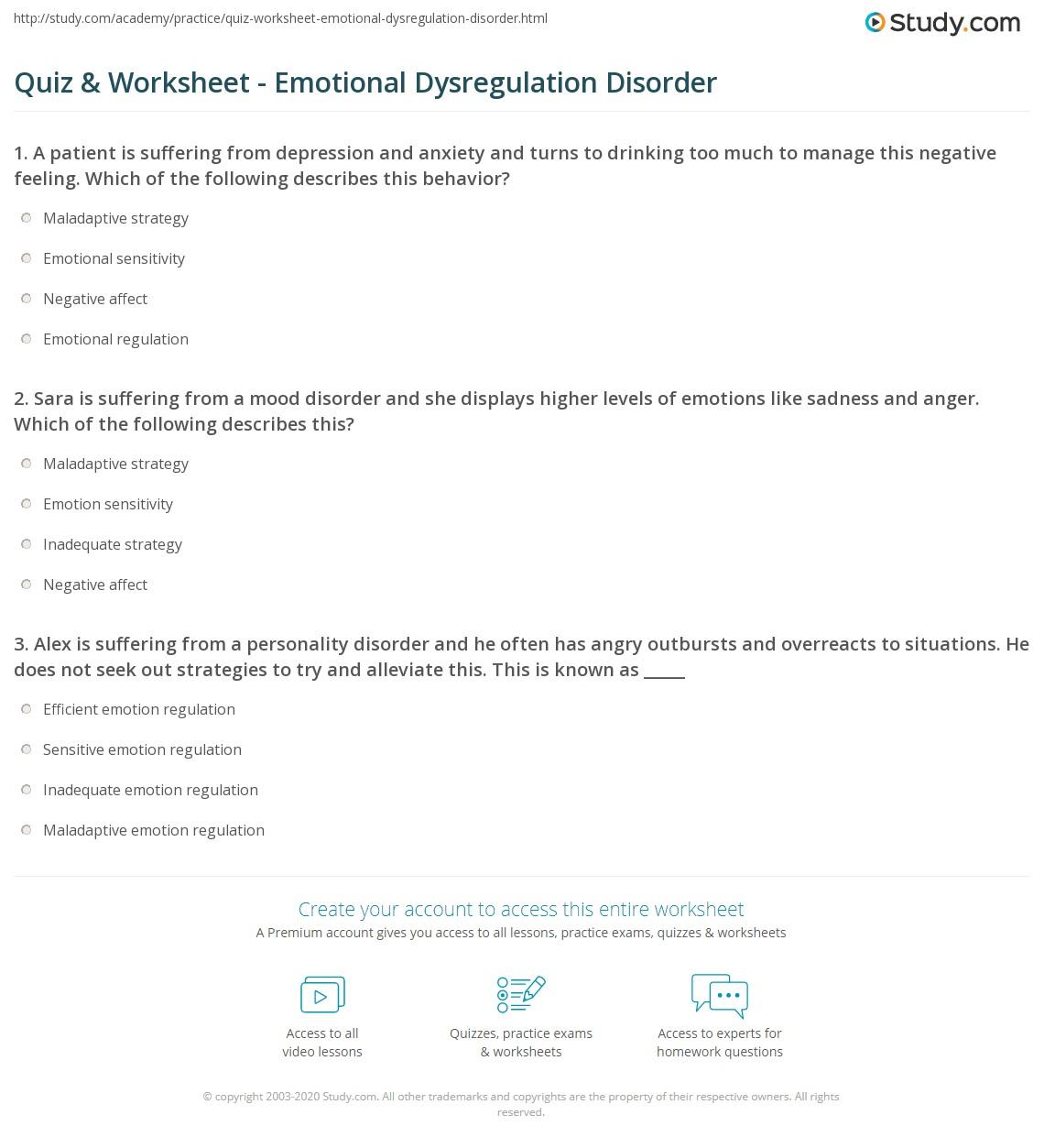 quiz worksheet emotional dysregulation disorder. Black Bedroom Furniture Sets. Home Design Ideas
