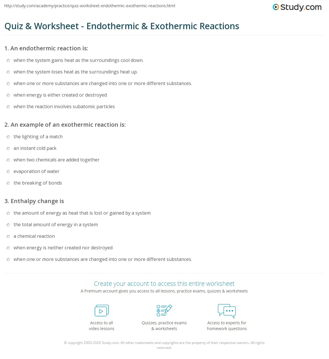 worksheet Endothermic And Exothermic Worksheet quiz worksheet endothermic exothermic reactions study com print and worksheet