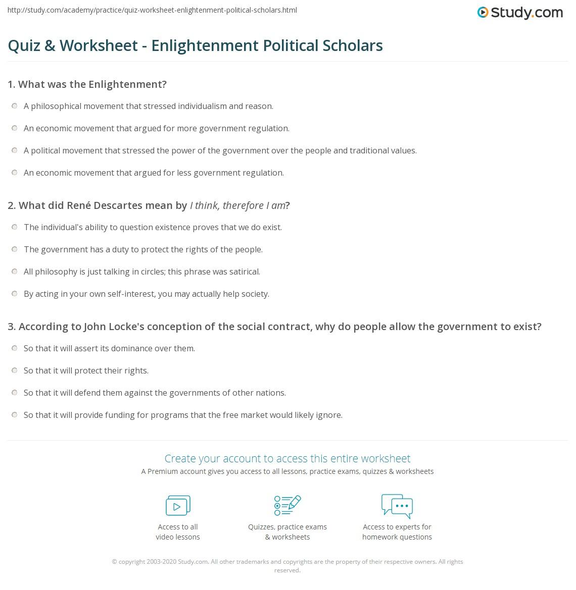 quiz worksheet enlightenment political scholars. Black Bedroom Furniture Sets. Home Design Ideas