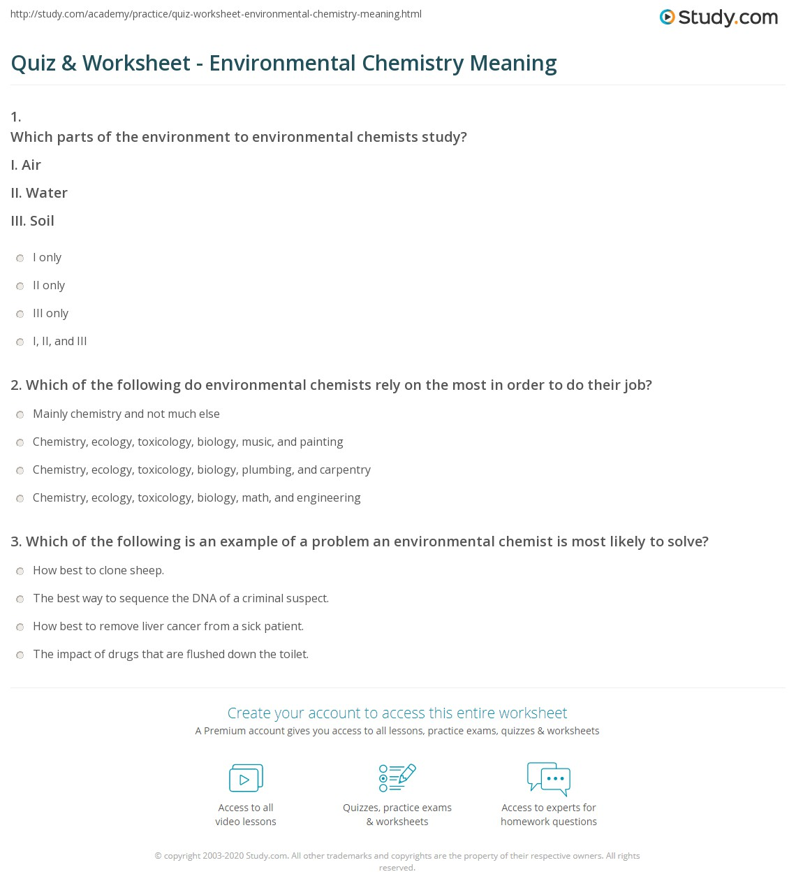 worksheet Introduction To Chemistry Worksheet quiz worksheet environmental chemistry meaning study com print what is topics definition worksheet