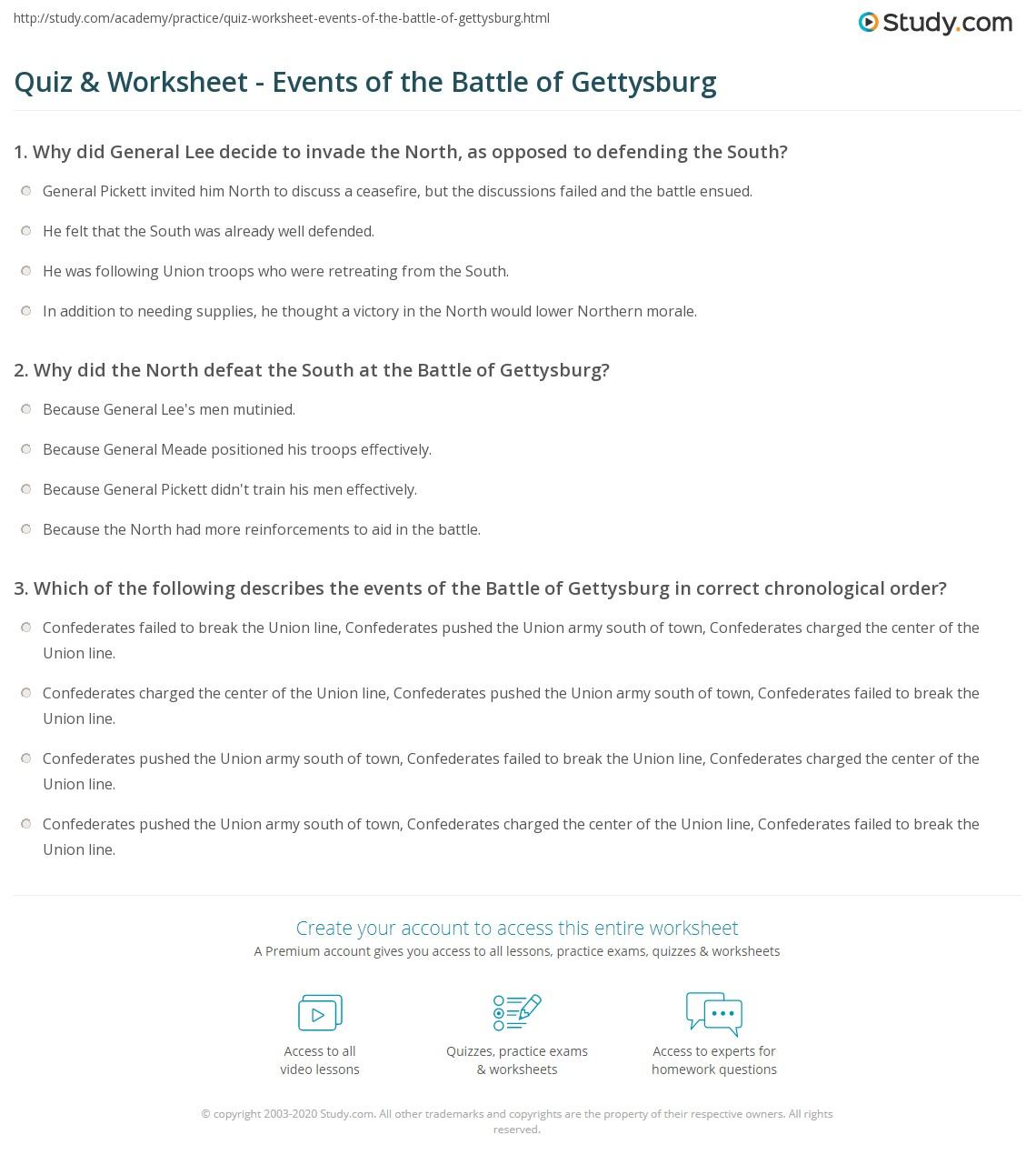 battle of gettysburg brief summary