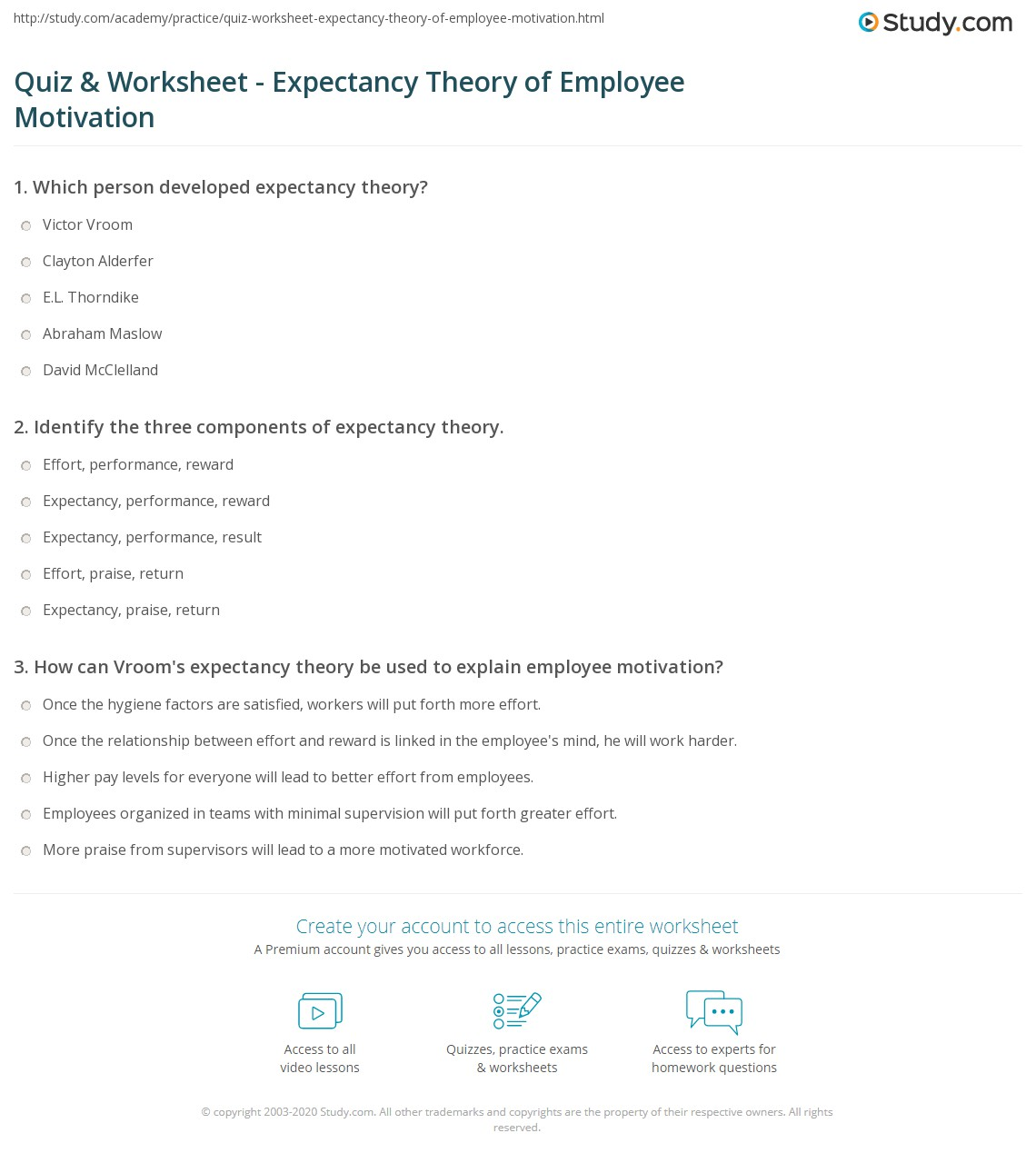 in depth summary of expectancy theory essay