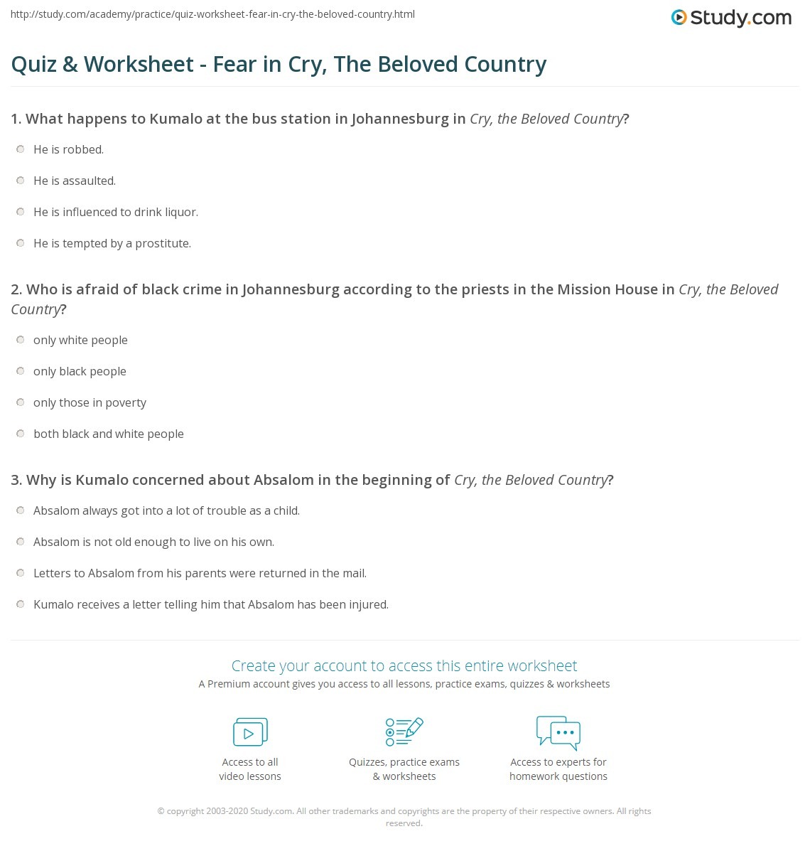 cry beloved country essay fear