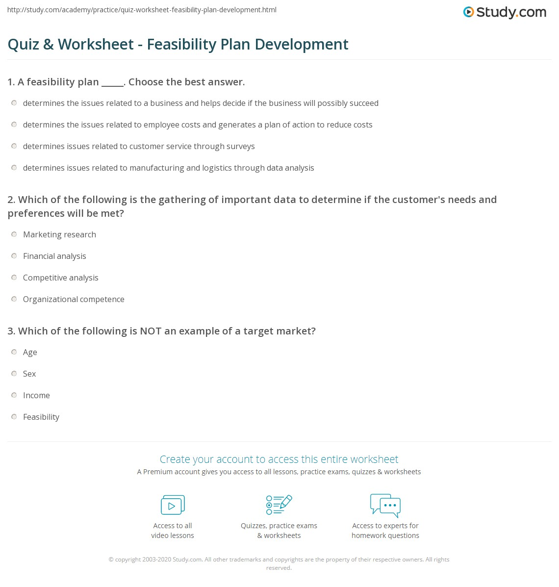 feasibility business plan
