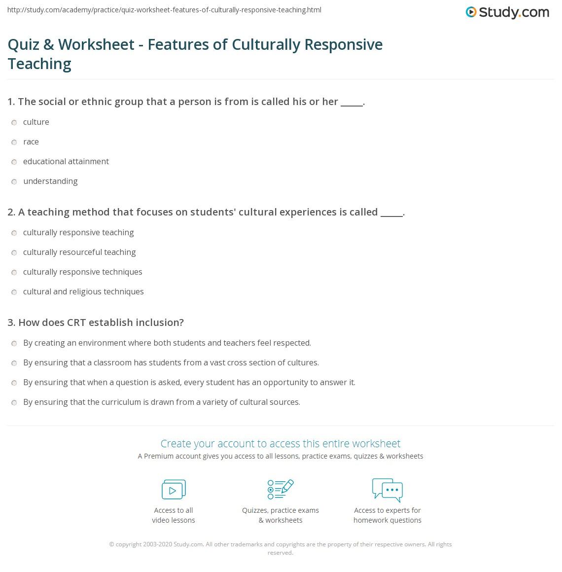 chapter 9 cultural diversity assignment sheet