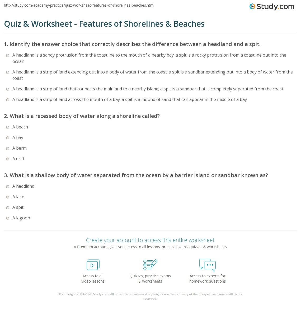 of Shorelines Beaches