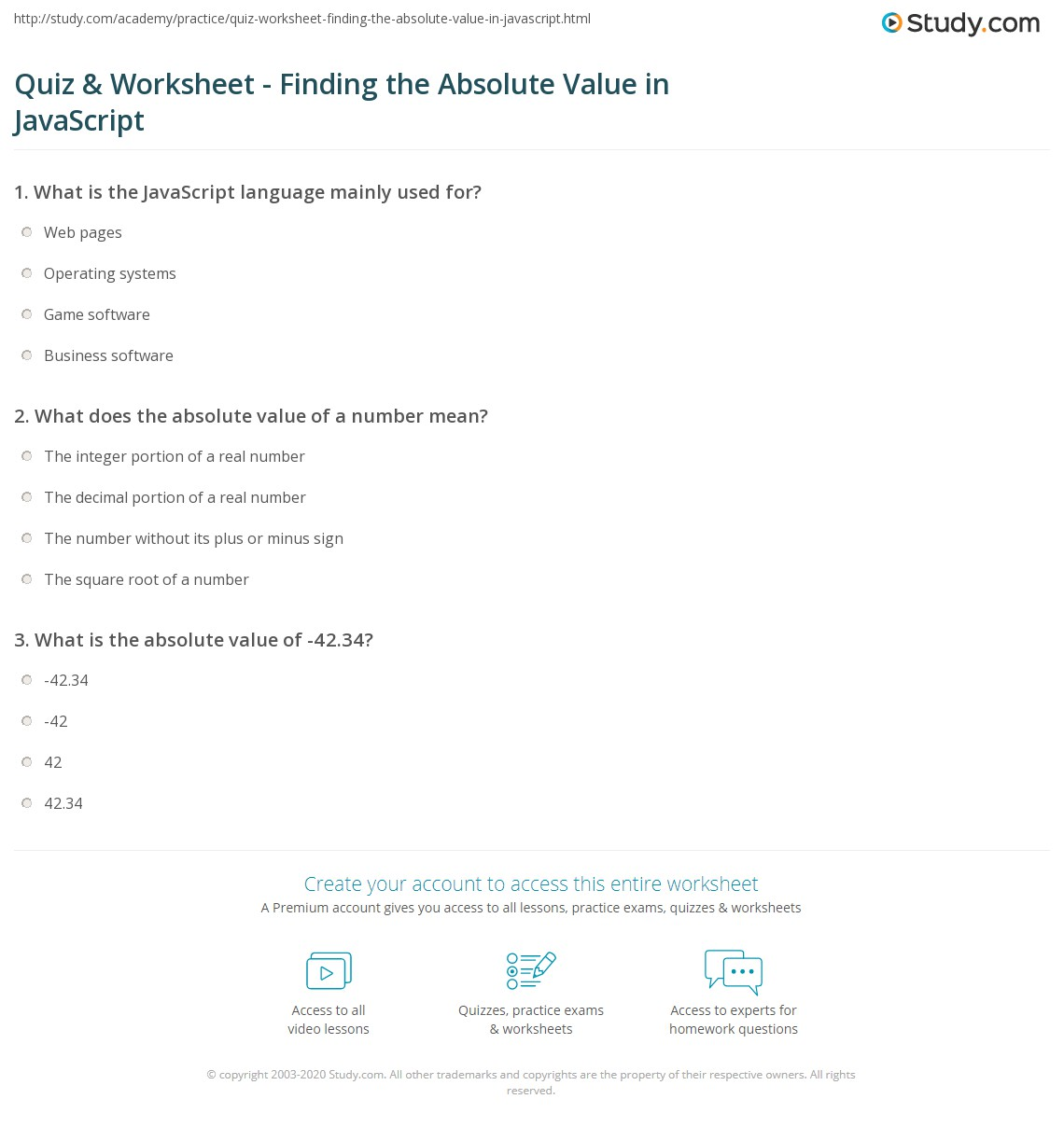 how to calculate absolute value