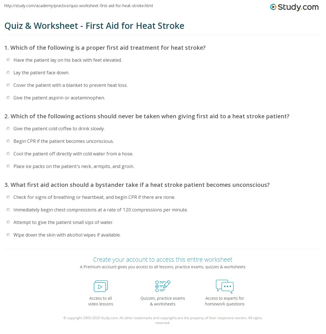 heat stroke first aid pdf