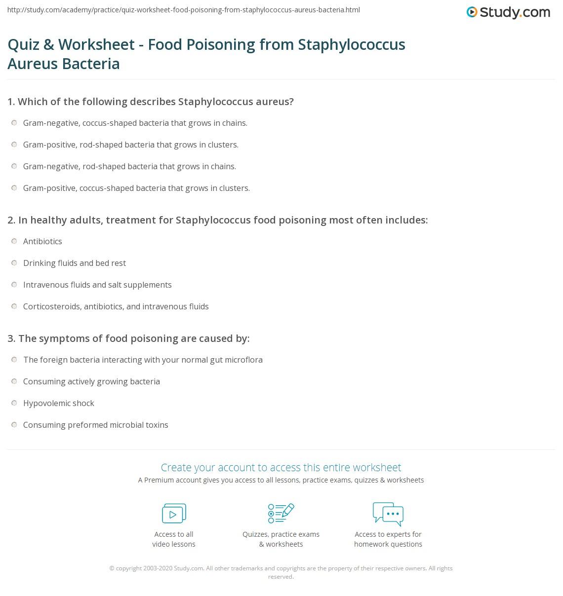 Essay food poisoning