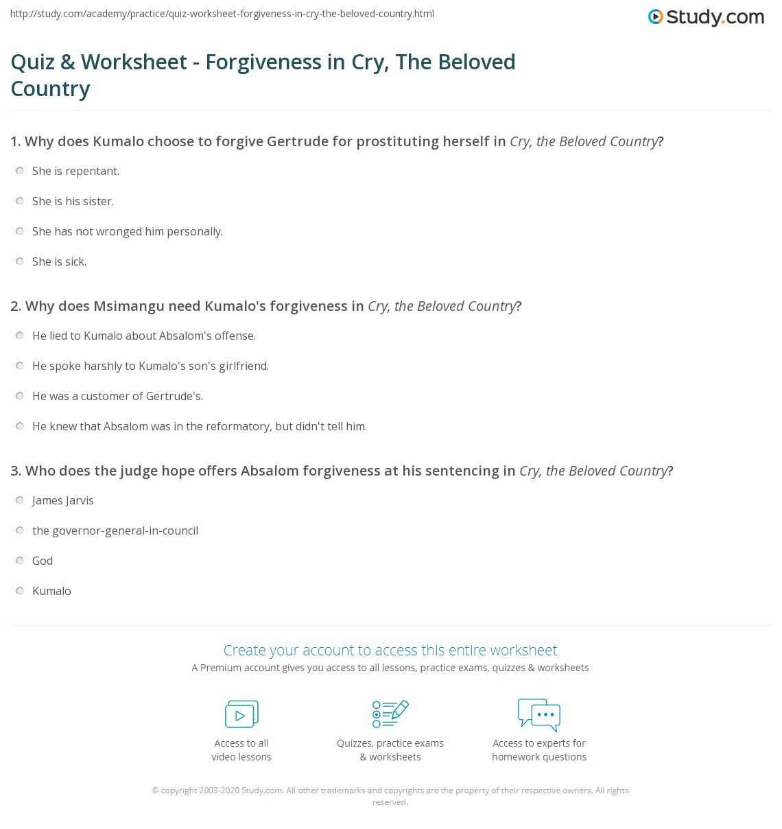 Free Worksheet Forgiveness Worksheets quiz worksheet forgiveness in cry the beloved country study com print examples quotes of worksheet