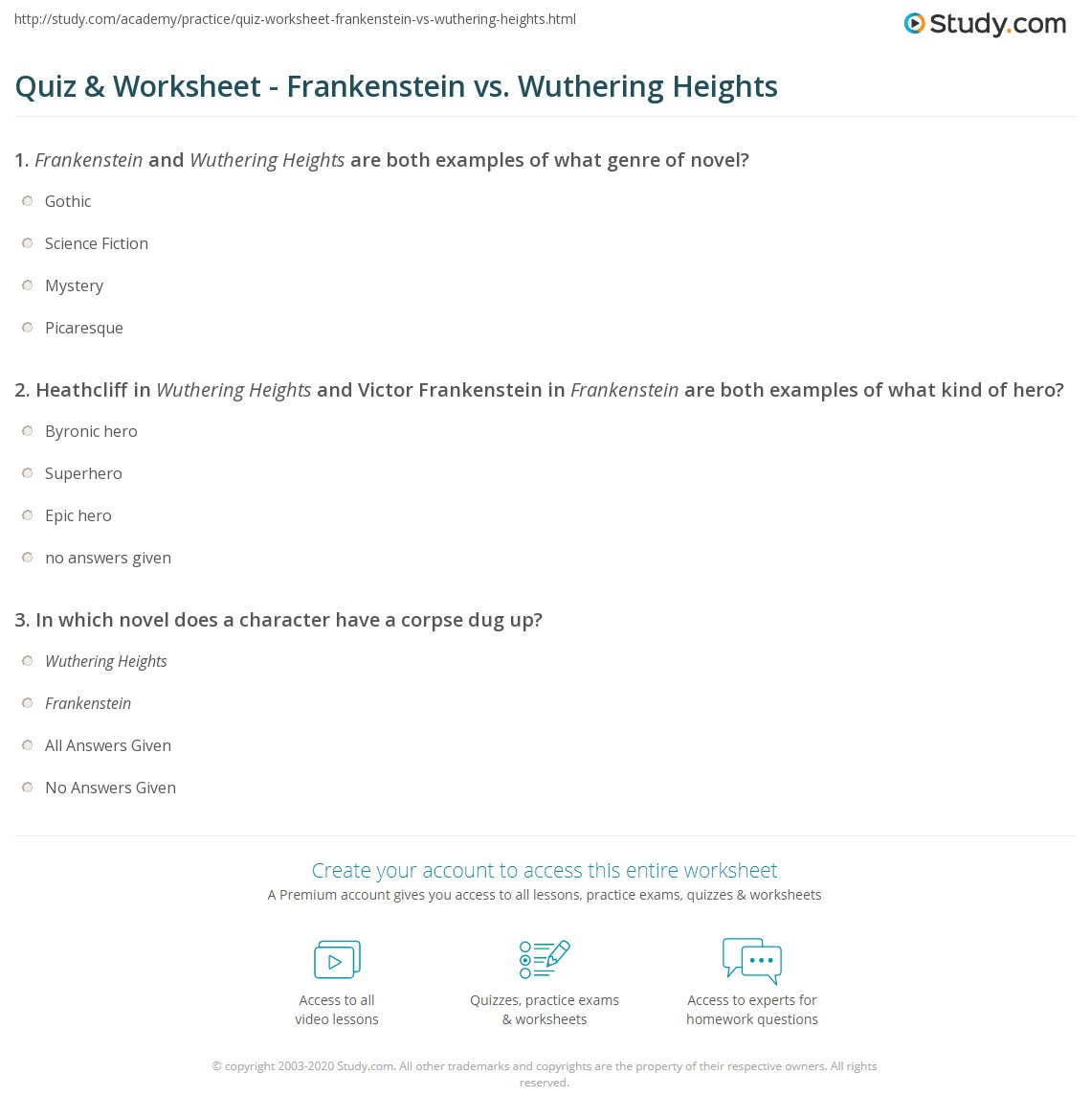 wuthering heights questions and answers Wuthering heights test generator ©2006 baggetta_ware  answers or questions memorized in sequence, so they can simply fill in the blanks, regardless of what.