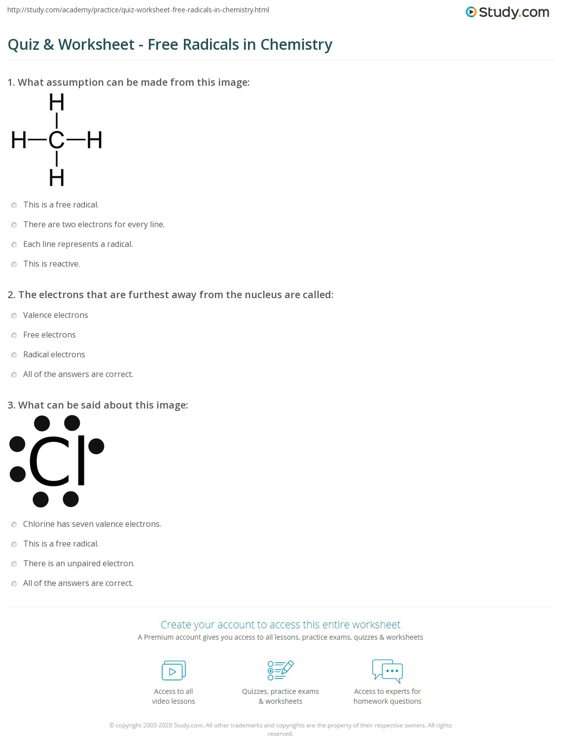 Worksheets Chemical Nomenclature Worksheet quiz worksheet free radicals in chemistry study com print what are definition examples worksheet