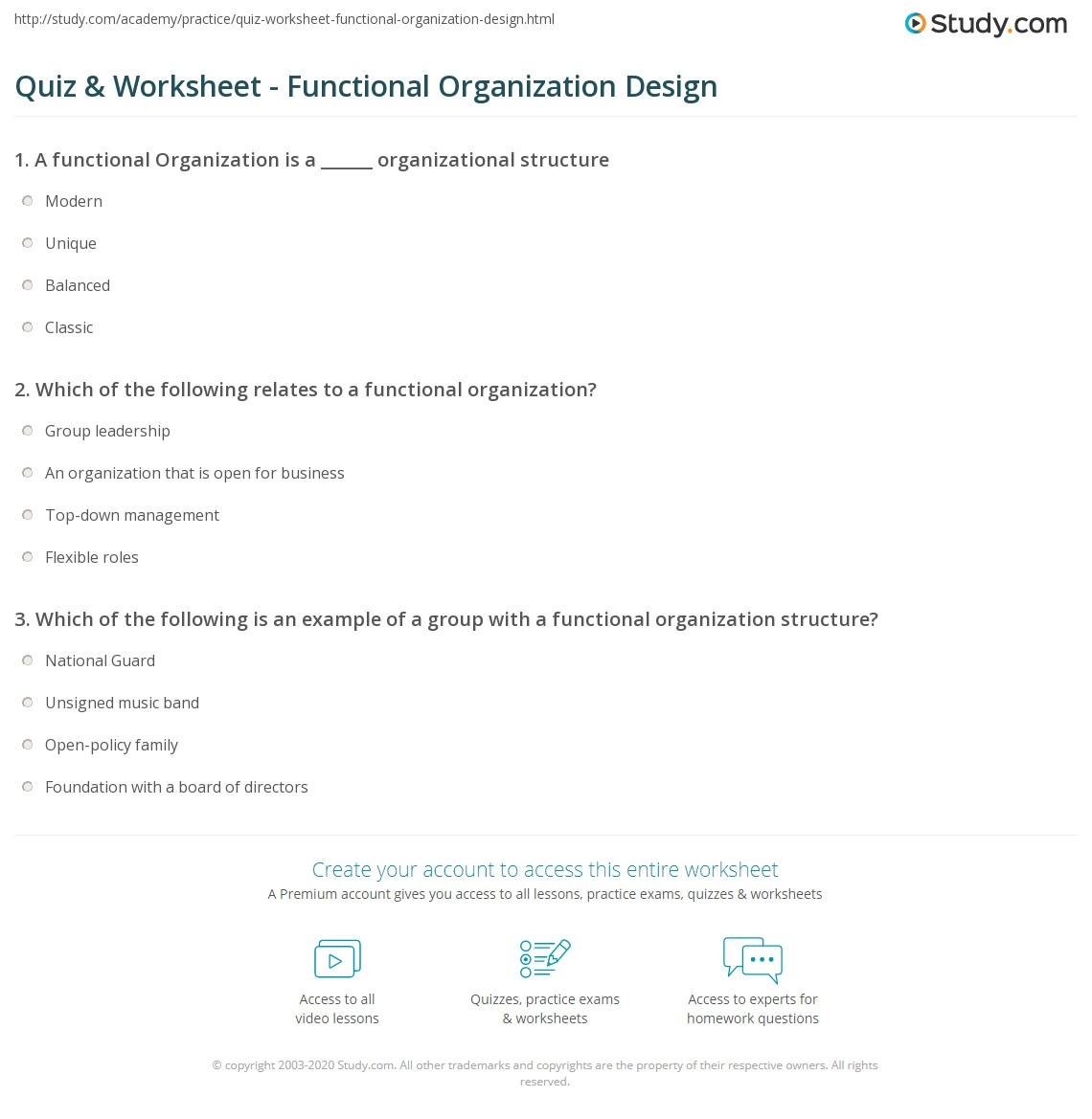 functional activities and organizational structure practice Organizational structure of clearview: like many other healthcare facilities, clearview follows the functional organization structure this facility has many different working branches, but this blog's focus is on the nursing branch in particular.