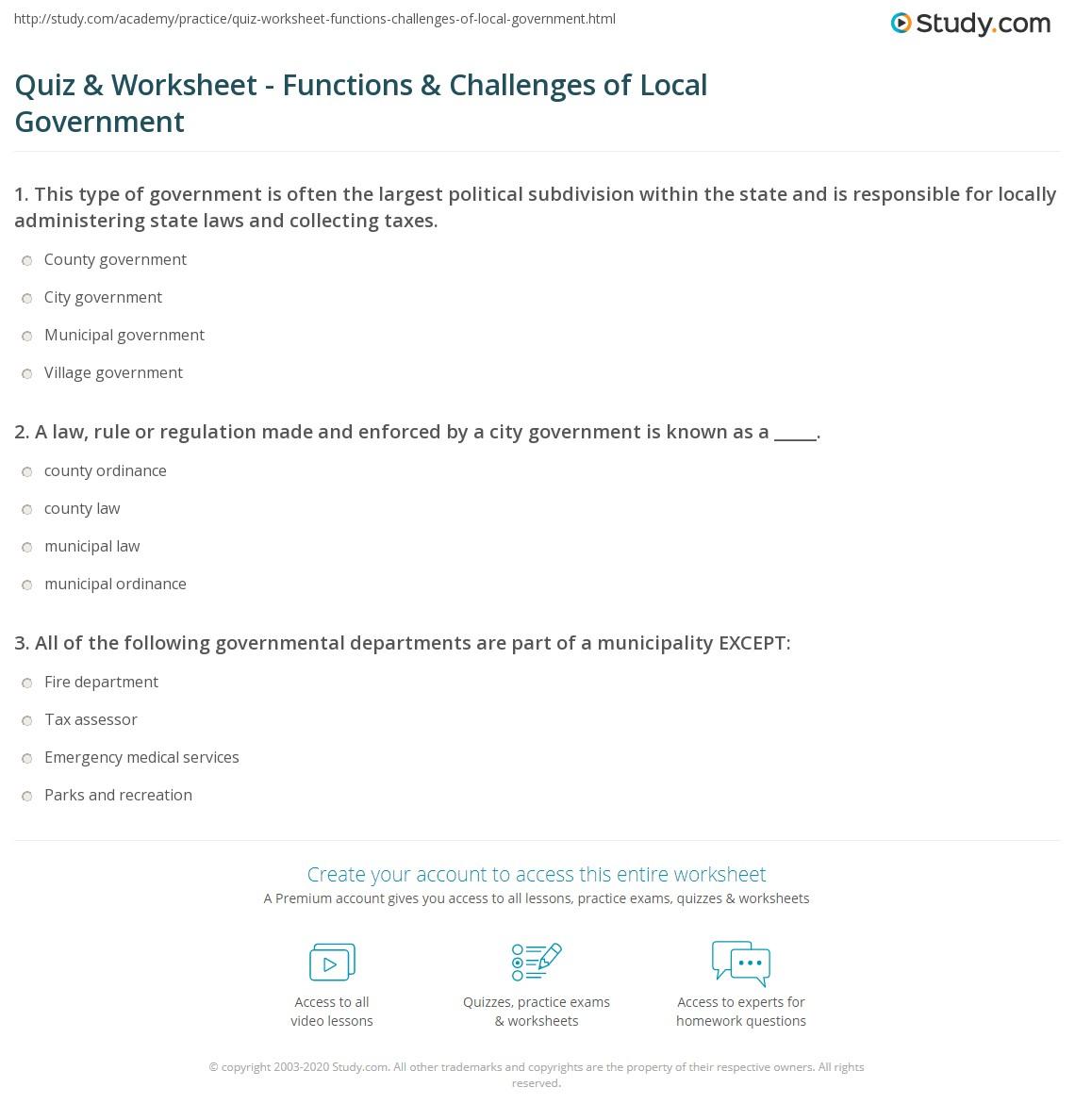 Worksheet: legislative branch of government Has more worksheets ...
