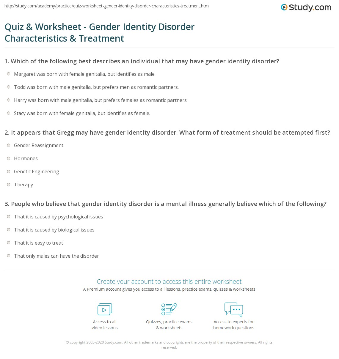 Identity quizzes gender The Ultimate