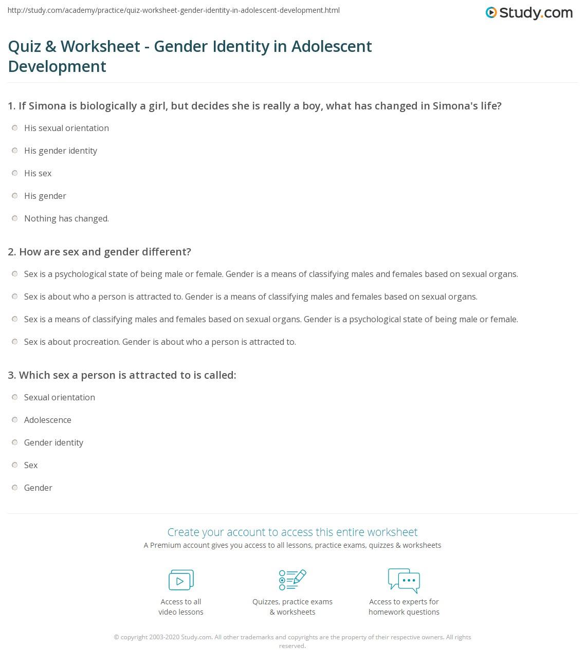 Identity development essay
