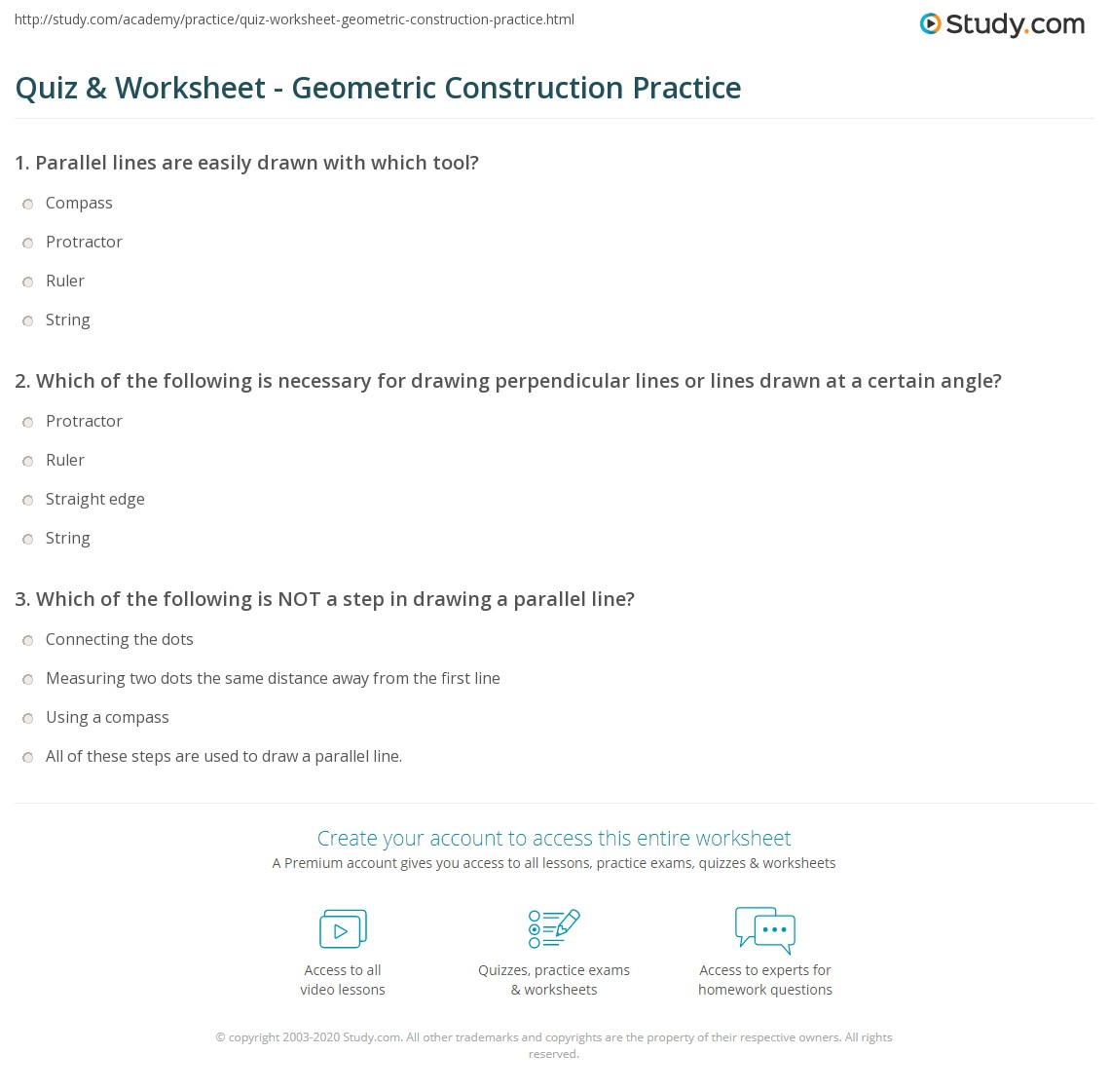 Worksheets Geometric Constructions Worksheet quiz worksheet geometric construction practice study com print making constructions with tools worksheet