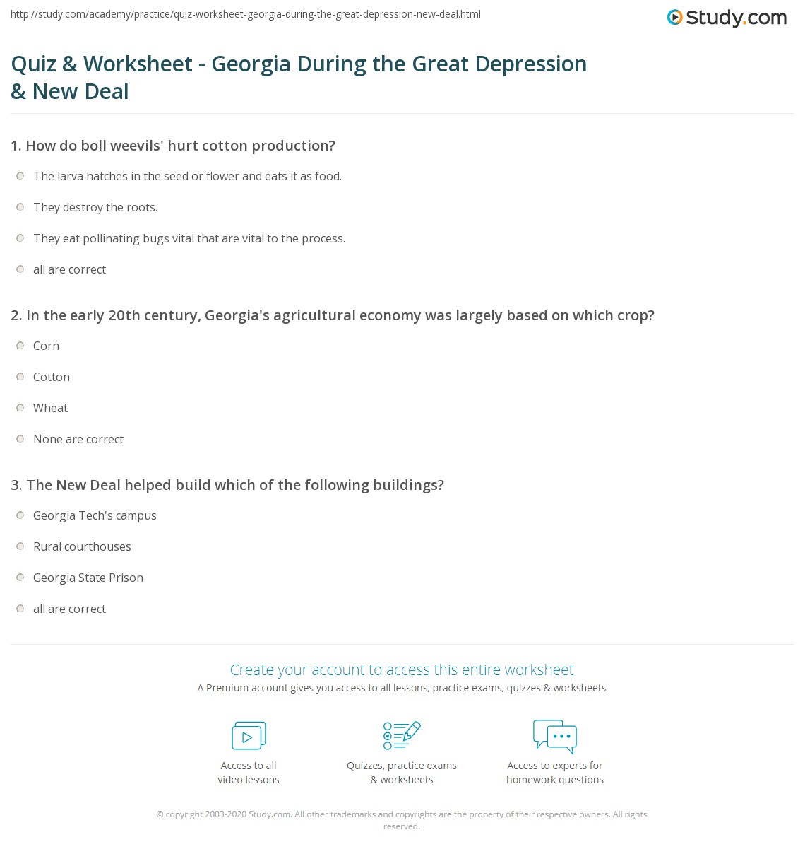 worksheet Child Support Worksheet Georgia quiz worksheet georgia during the great depression new deal print how impacted worksheet